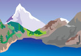 Mountain lake — Stock vektor