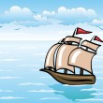 Sailing vessel — Stock Vector