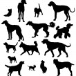 Stock Vector: Dog Silhouette