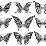 Set of butterflies — Stock Vector #1194221