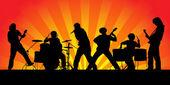 Rock group. — Stock Vector