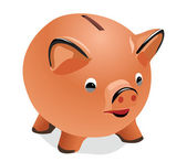 Pig a coin box — Stock Vector