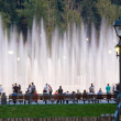 Shining fountain — Stock Photo
