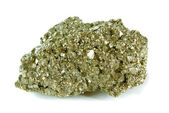 Pyrite (Igneous Rock ) isolated on white background — Stock Photo