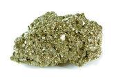 Pyrite (Igneous Rock ) isolated on white background — Stock Photo