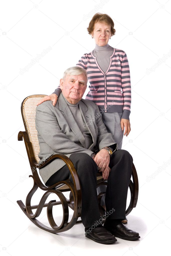Senior Couple Isolated on a White Background — Stock Photo #2076784