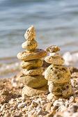 Složení z kamenů v podobě p — Stock fotografie