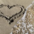 Royalty-Free Stock Photo: Heart on a beach