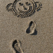 Drawing on sand — Stock Photo