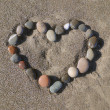 Heart on sand — Stock Photo #1174633
