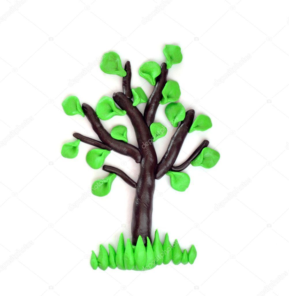 Как сделать дерево на картоне