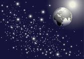 Earth & stars — Stock Vector