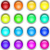 Metalliska runda knappar — Stockvektor