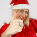 Girl Santa Klaus — Stock Photo