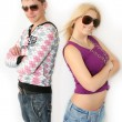 Stock Photo: Fashionable girl and boy