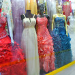 Showcase evening dresses — 图库照片