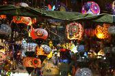 Turkish lamps in Grand Bazaar — Stock Photo