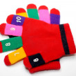 Children red mitten isolated — Stock Photo #1268745