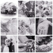 WEDDING COLLAGE — Stock Photo #1339698