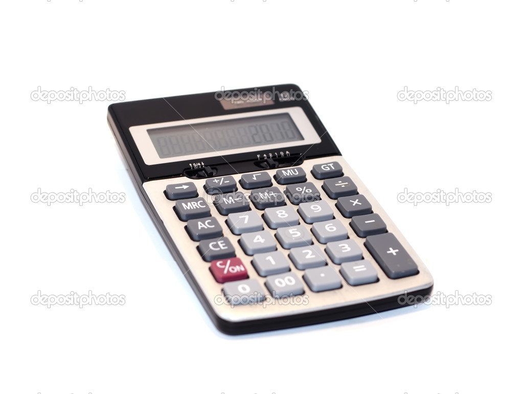 Calculator isolated on white background — Stock Photo #1339682