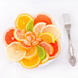 Dessert of citrus and marmalade — Stock Photo #1929344
