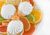 Dessert of citrus and marmalade — Stock Photo