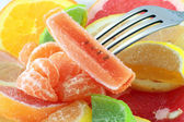 Dessert of citrus and marmalade — Stock Photo