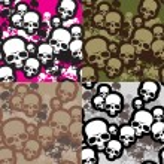 Skulls camo — Stock Vector #1392266