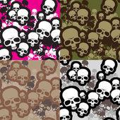 Skulls camo — Stock Vector