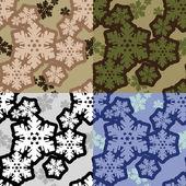 Snowflakes camo — Stock Vector