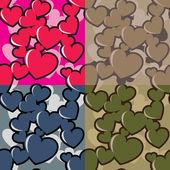 Hearts camo — Stock Vector