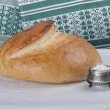 Stock Photo: Bread and salt. Russitradition.