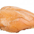 Stock Photo: Smoked chicken breast on white backgro
