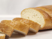 French crusty bread, Bread - whole wheat — Stock Photo