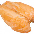 Smoked chicken breast on a white backgro — Stock Photo #1138802