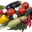 Variety of vegetables; colorful and ple - Stock Photo