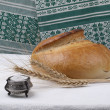 Bread and salt. Russian tradition. - Stock Photo