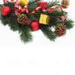 Christmas decoration isolated on the whi — Stock Photo
