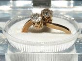 A close up of Diamond rings — Stock Photo