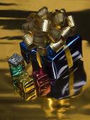 Regalos de navidad en las cajas — Foto de Stock