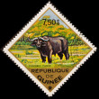 Postage stamp. The African Buffalo — Stock Photo