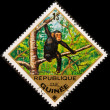Postal stamp. Chimpanzee — Stock Photo