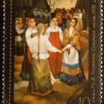Vintage stamp depicting illustration to — Stock Photo #1266346