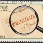 Vintage stamp depicting old letter — Stock Photo