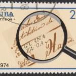 Vintage stamp depicting old letter — Stock Photo #1266759