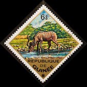 Postage stamp. African antelope. — Stock Photo