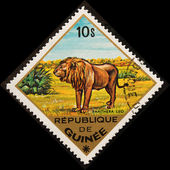 Postal stamp. Lion — Stock Photo