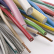 Stock Photo: Different electric cables