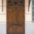 Stock Photo: Close-up of old wooden doors