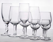 Few empty glasses are for swizzles — Stock Photo